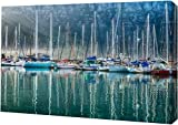 PrintArt GW-POD-33-S1334D-40x26 ''Hout Bay Harbor, Hout Bay South Africa'' by Richard Silver Gallery Wrapped Giclee Canvas Art Print, 40'' x 26''