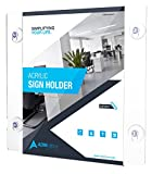 AdirOffice Acrylic Window Sign Holder with Suction Cups 2 pack (12 Pack 8.5-x-11-inch)