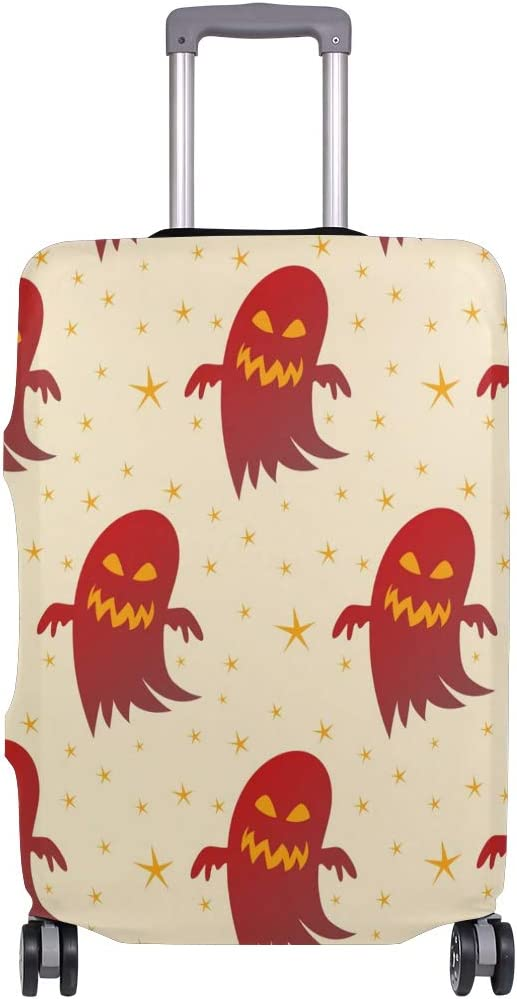 FOLPPLY Halloween Funny Ghost Pattern Luggage Cover Baggage Suitcase Travel Protector Fit for 18-32 Inch