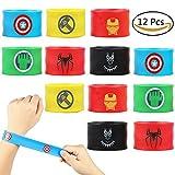 Dissytoys Superhero Slap Bracelets for Kids Boys & Girls Birthday Gifts Party Supplies Favors Wristband Accessories Wrist Strap (12 pack)