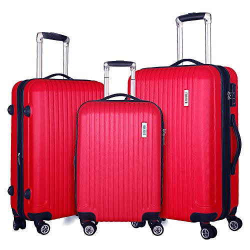 (Fochier 3 piece Luggage Set Expandable Lightweight Spinner Suitcase with TSA Lock)