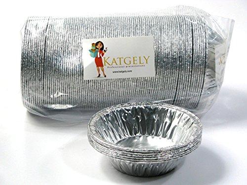 Katgely 7 Oz Aluminum Casserole Pot Pie Pans (Pack of 100) (Disposable Mini Pie Pans compare prices)