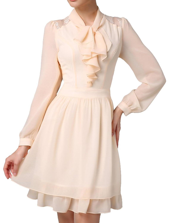 OMSMY Women's Long Sleeves Loosing Dress