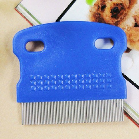 HuntGold Pet Cat Dog Toothed Flea Ovum Remover Grooming Cleaning Comb Steel Hair Brush(random color)