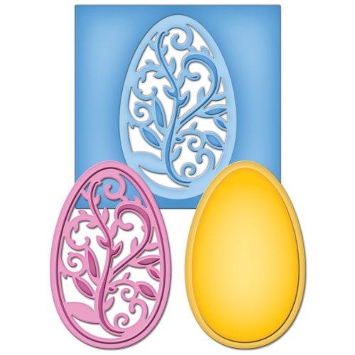 Spellbinders S2-053 Shapeabilities Filigree Egg Die D-Lites (Egg Die Cut)