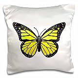 3dRose pc_217281_1 Hamsa Hand Black and White Pillow Case, 16