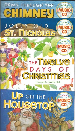 - Twin Sisters Sing Along Book & CD Set of 4 (Down Through The Chimney, Jolly Old St. Nicholas, The Twelve Days of Christmas, Up On The Housetop)