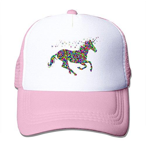 MZONE Rainbow Capat Unicorn Béisbol Hats Rosado Unisex Snapback Capat Sombrero Negro TTUq1w