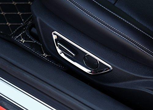 ABS Chrom gl/änzend innen Auto Sitz Anpassung Button Abdeckung Trim 2 F/ür Mustang 2015 2016 2017