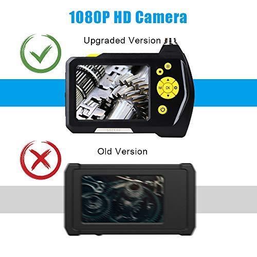 Endoscope Camera 1080P HD Borescope Inspection Camera Pipe, 3.5inch HD LCD Screen with 0.21inch Lens, Waterproof 9.8ft Snake Camera, 2600mAh Lithium Battery Wall Inspection Camera+Tool Box by SHEKAR (Image #2)
