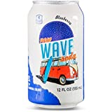 Wave Soda Sparkling Juice, Blueberry, 12 Ounce Cans (Pack of 12)