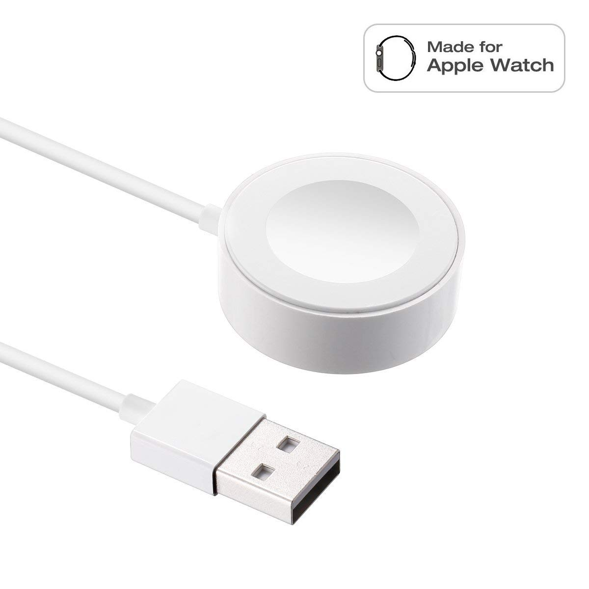 Compatible with Apple Watch Magnetic Wireless Charger Pad Charging Cable Cord Compatible with Apple Watch iWatch 38 mm/42 mm Series 1/2/3, 3.3Ft