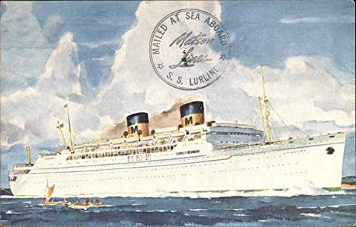 Matson Line's SS Lurline Cruise Ships Original Vintage Postcard