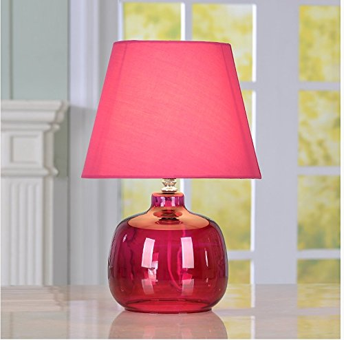 CLG-FLY The wedding room decoration bedroom bedside lamp lamp glass lamp creative personality study,25.5×37cm button switch