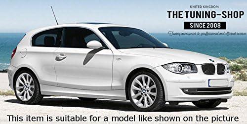 The Tuning-Shop Ltd for BMW 1 Series E81 E82 E87 E88 2007-13 Shift /& E Brake Boot Black Leather M//////Stitching
