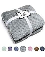 "U UQUI Fleece Blanket Twin Size Grey Lightweight Super Soft Cozy Luxury Bed Blanket Microfiber 66""x90"""