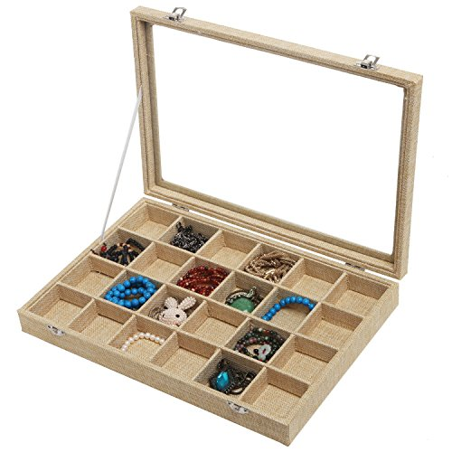 Modern 24 Compartment Jewelry Organizer Display