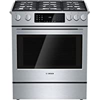 Bosch HDI8054U 800 30 Stainless Steel Dual Fuel (Gas) Slide-In Sealed Burner Range - Convection