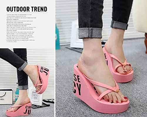 22f7d00015fd73 Maybest Ladies Summer Platform Wedge Beach Flip Flop Toe High Heel ...