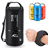 BFULL Waterproof Dry Bag 10L/20L [Lightweight Compact] Roll Top Water Proof Backpack with 2 Exterior Zip Pocket for Kayaking, Boating, Duffle, Camping, Floating, Rafting, Fishing