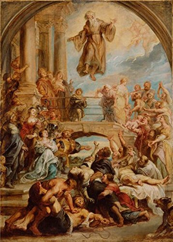 [Oil Painting 'The Miracles Of Saint Francis Of Paola, About 1627 - 1628 By Peter Paul Rubens' 20 x 28 inch / 51 x 71 cm , on High Definition HD canvas prints, Kitchen, Laundry Room And Nursery] (Dead Poets Society Costume)