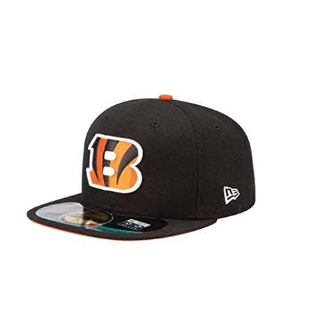 free shipping official supplier lowest discount New Era Cincinnati Bengals 59fifty Fitted Men's Hat Cap Black/orange Size 7  1/2
