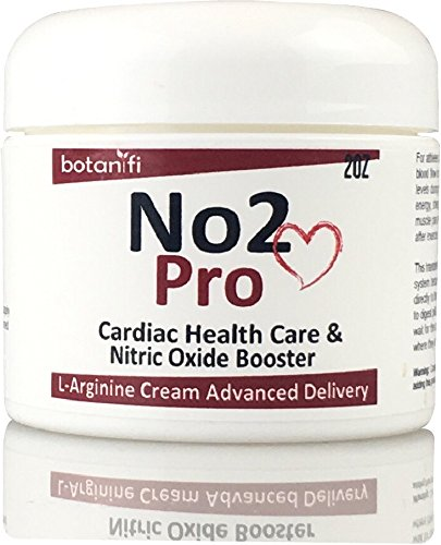 No2 Pro - Helps Support Blood Pressure - L-Arginine skin cream FAST absorption. Has No Bad Taste, No Upset Stomach, No Large Pills, or Stained teeth - Botanifi!