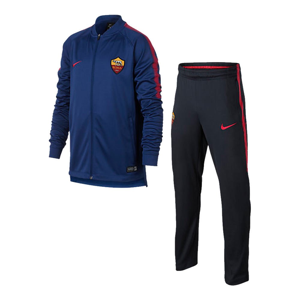 2017-2018 AS Roma Nike Dry Squad Tracksuit (Dark Obsidian) - Kids