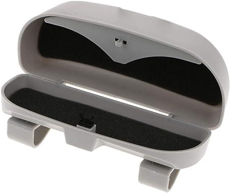 Supporto per occhiali da sole per auto 1 pezzo di porta occhiali da sole per occhiali da sole con supporto universale per occhiali da sole grigio//beige.