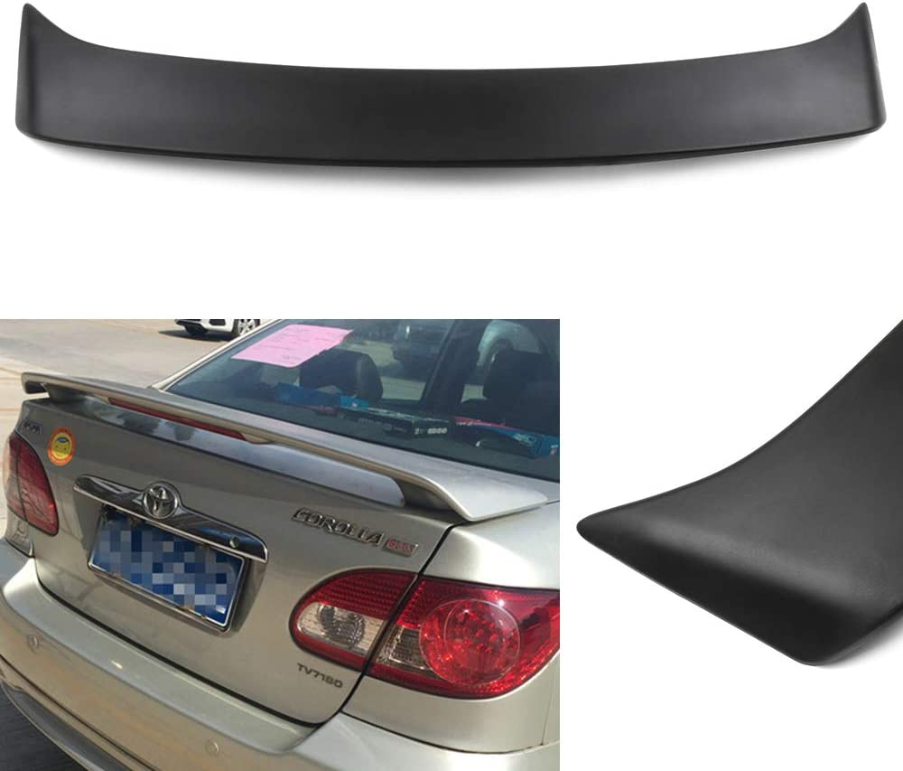 CTCAUTO ABS Rear Spoiler Wing Compatible with 2003-2008 for Toyota Corolla