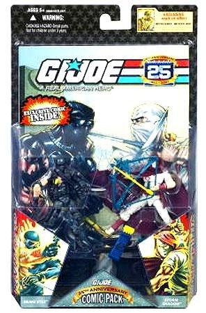 G.I. JOE 25th Anniversary Comic 2-Packs: SNAKE EYES and STORM SHADOW