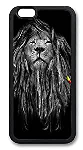 iPhone 6 Cases, Rasta Lion Durable Soft Slim TPU Case Cover for iPhone 6 4.7 inch Screen (Does NOT fit iPhone 5 5S 5C 4 4s or iPhone 6 Plus 5.5 inch screen) - TPU Black