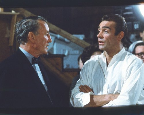 Sean Connery Ian Fleming rare on set of Dr. No James Bond 8x10 Promotional - Bond James Years