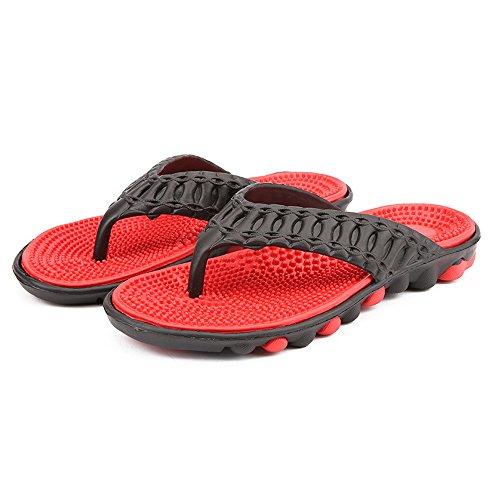 Shoes de Playa Comfort Hombres de Calzado Chanclas Rojo01 Agua Ligero Trail Para Sandalias de Playa MeiPing Outdoor Water IYa70x0