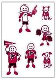 Siskiyou NFL Atlanta Falcons Small Family Decal Set