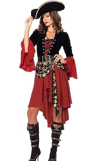 Hxp Traje De Cosplay Traje De Pirata Femenino, Juego De rol ...