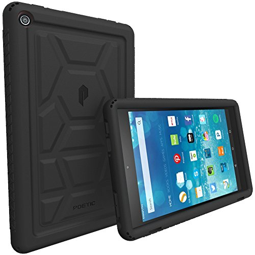 Poetic TurtleSkin Fire HD 8 2016 Rugged Case Cover with Heavy Duty Protection Silicone and Sound-Amplification Feature for Amazon Fire HD 8 (Previous 6th Generation - 2016 Release ONLY) Black