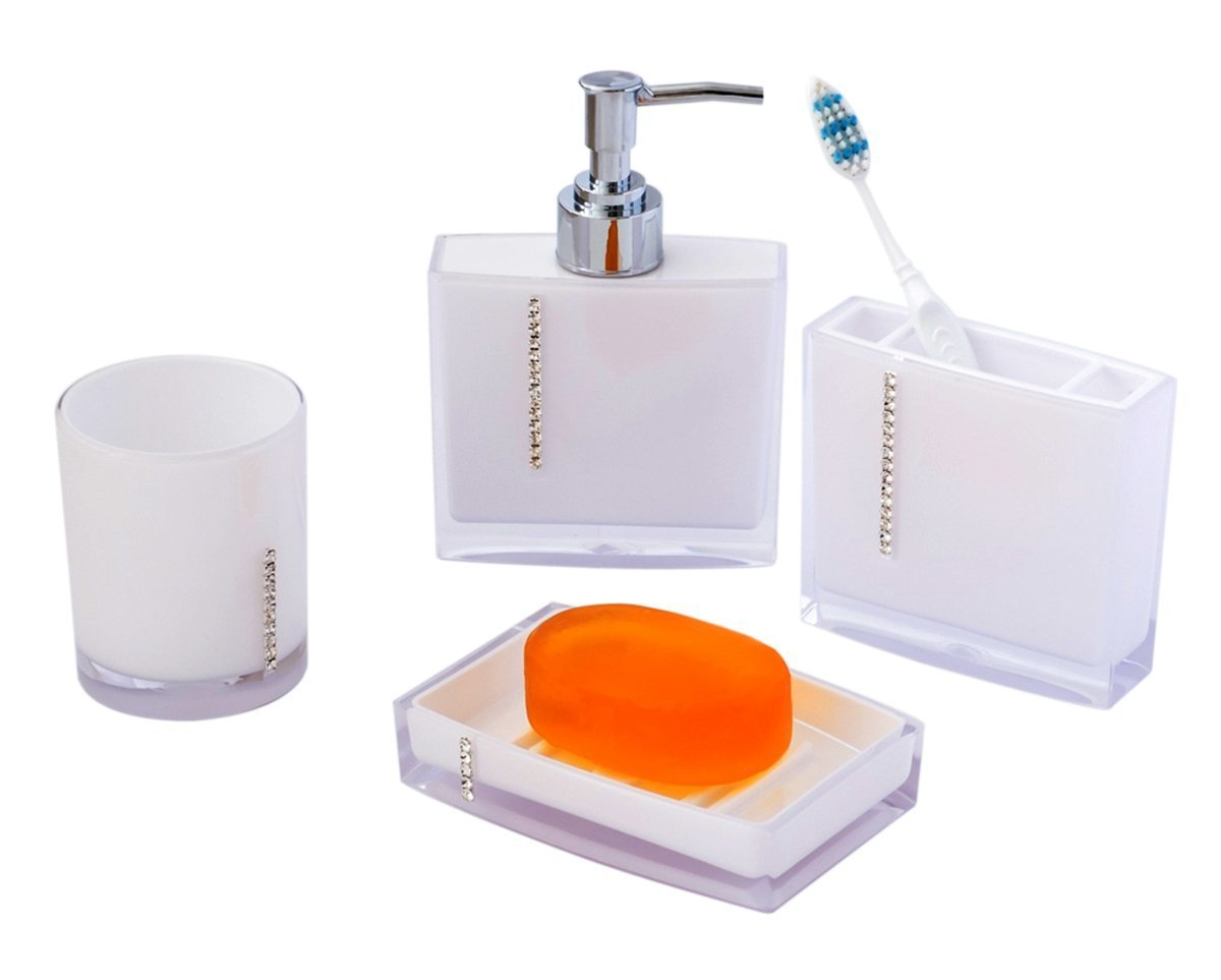 Amazon.com: JustNile Custom Jewel Series 4-Piece Bathroom Set Made ...