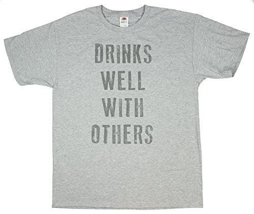 Drinks Well With Others Graphic T-Shirt - Large