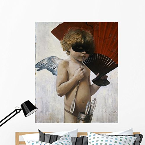 Wallmonkeys Cupid at The Masquerade Ball Franz Von Stuck Wall Decal Peel and Stick Graphic WM279817 (48 in H x 39 in W)