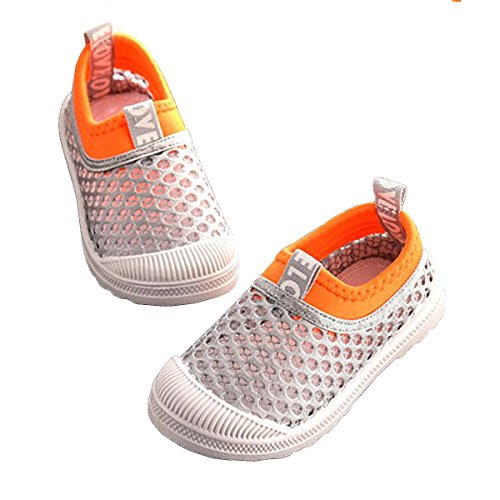 84fe13c0dd2e35 RVROVIC Kids Slip-on Breathable Mesh Sneakers Summer Beach Water Shoes  Toddler Little Kid