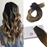 Moresoo 18 Inch Real Hair Tape in Extensions Remy Tape ins Real Hair