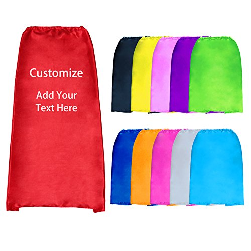 Personalized Super Hero Capes Bulk Adult-Sized Custom Superhero Costumes for Halloween Party Gifts (# 2 Pack) ()