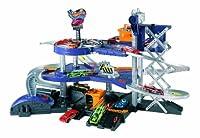 Mattel V3260 - Hot Wheels Power-Parkgarage, mit Aufzug und 2 Startschleudern