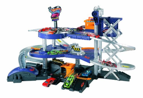 Auto Wheels Hot (Mattel Hot Wheels Mega Garage Playset - Mattel V3260)