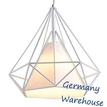 fbdedf3056fae SWUK Lampes de Plafond Créatif Suspension Lustre Cage en Fer Forme ...