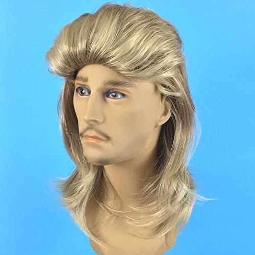 Premium Dirty Blonde Mullet Wig  Redneck Halloween Costume 80s Wig Mullets  for c79aca7684