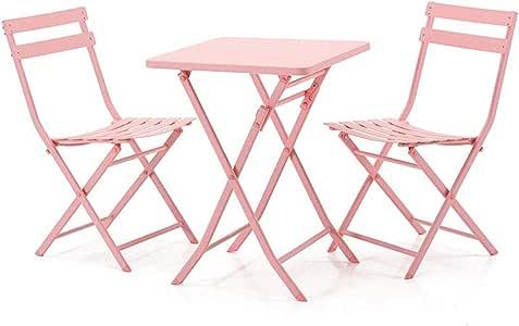 Práctica mesa multifuncional. LEQI Balcón Pequeña mesa y silla ...
