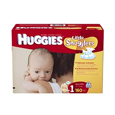 Huggies Little Snugglers Size 1 Giant Pack, 160 Count from Huggies