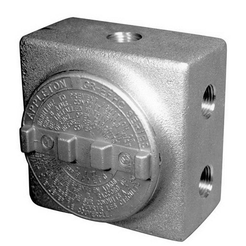 Appleton GRSS50 Conduit Outlet Box, Hazardous Location, Copper-Free Aluminum, 7 1/2'' Hub